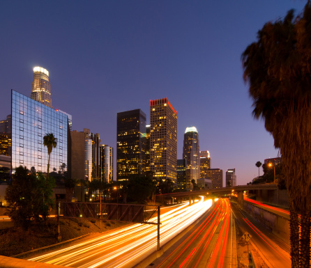 Angeles National Forest「Los Angeles downtown at dusk」:スマホ壁紙(17)