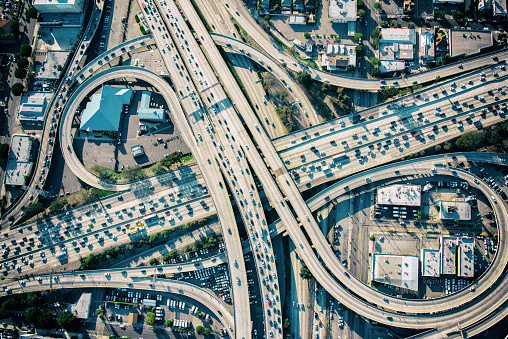 Overpass - Road「Los Angeles Freeway Interchange at Rush Hour」:スマホ壁紙(16)
