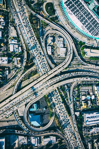 Elevated Road「Los Angeles Freeway Interchange Aerial」:スマホ壁紙(8)