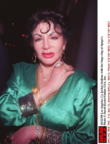 David Keeler「Jackie Stallone (Diamond Ring In Heavy Jewelery At Spago's」:写真・画像(1)[壁紙.com]
