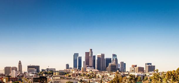 Urban Skyline「Los Angeles Downtown Panorama」:スマホ壁紙(8)