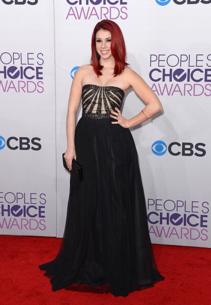 Strapless Evening Gown「39th Annual People's Choice Awards - Arrivals」:写真・画像(0)[壁紙.com]