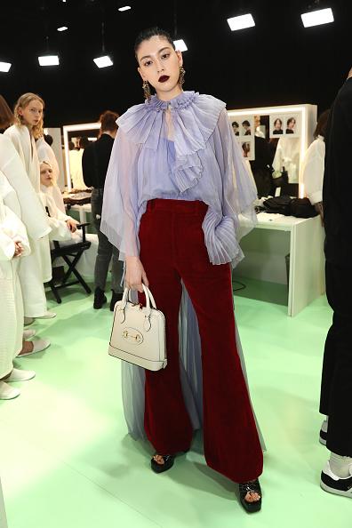 Sheer Fabric「Gucci - Arrivals at Backstage - Milan Fashion Week Fall/Winter 2020/21」:写真・画像(4)[壁紙.com]