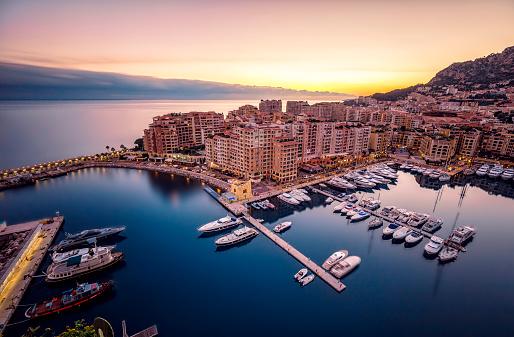 豪華 ビーチ「Monaco, Monte Carlo at dusk」:スマホ壁紙(3)