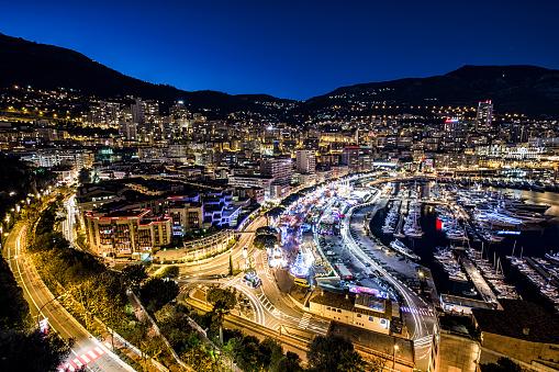 豪華 ビーチ「Monaco, Monte Carlo at night」:スマホ壁紙(11)