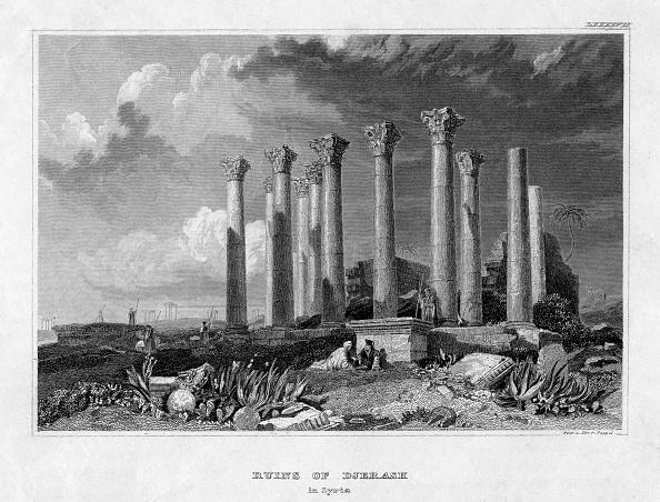 Overcast「The Ruins of Djerash, Syria, 19th century.Artist: Gest」:写真・画像(4)[壁紙.com]