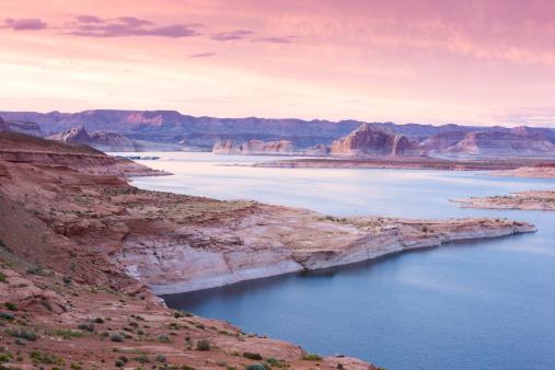 Glen Canyon National Recreation Area「Lake Powell at dusk」:スマホ壁紙(10)