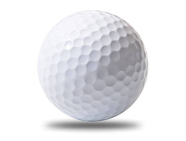A white golf ball hovering above ground:スマホ壁紙(壁紙.com)