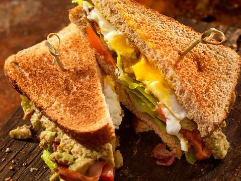 Toasted Food「Avocado and Egg, BLT Sandwich」:スマホ壁紙(18)