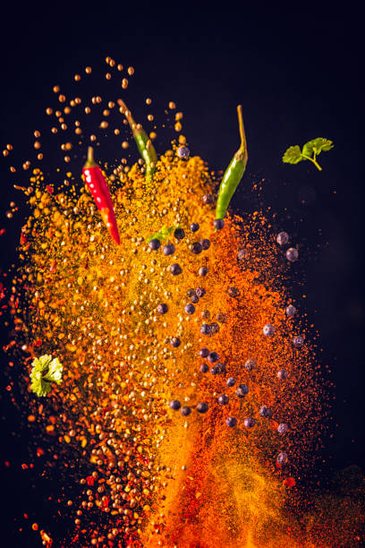 Curry Spice Mix Food Explosion:スマホ壁紙(壁紙.com)