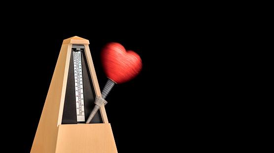 Rhythm「Heart on moving metronome」:スマホ壁紙(9)