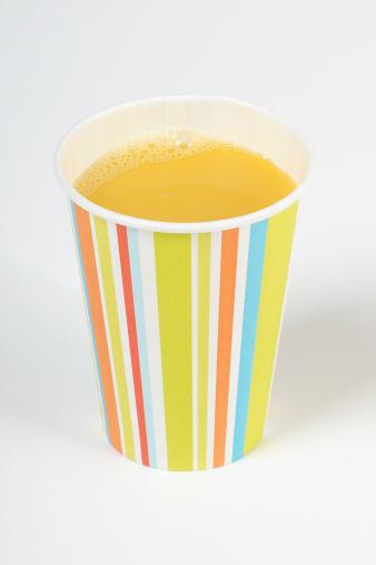 Juice「Orange juice in paper cup, close up」:スマホ壁紙(7)