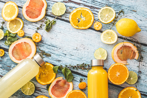 Lemon Soda「Orange juice, lemonade and slices of citrus fruit」:スマホ壁紙(5)