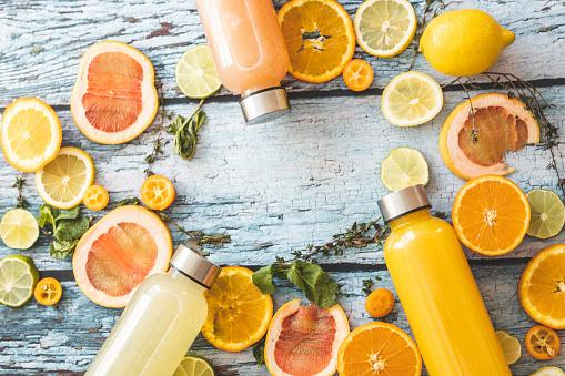 Lemon Soda「Orange juice, grapefruit juice, lemonade and slices of citrus fruit」:スマホ壁紙(3)