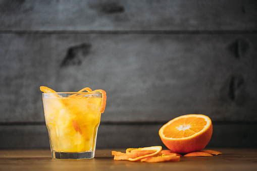 Orange Juice「Orange juice with peel and sliced fruit」:スマホ壁紙(0)