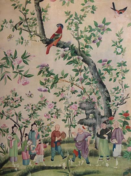 葉・植物「Chinese Hand-Painted Wall-Paper」:写真・画像(4)[壁紙.com]