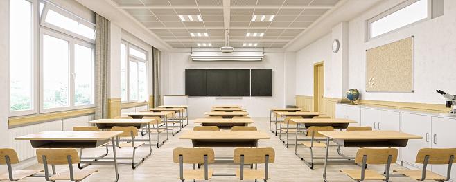 School Building「Modern Classroom Interior」:スマホ壁紙(10)