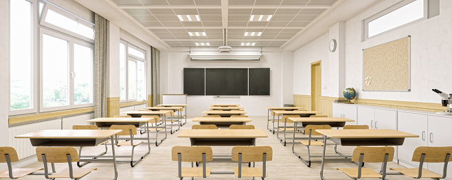 Panoramic「Modern Classroom Interior」:スマホ壁紙(6)