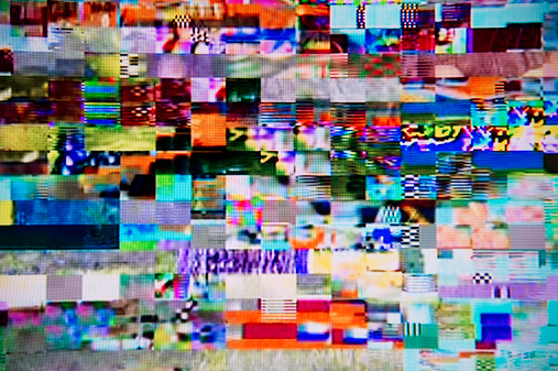 Problems「Satellite signal interference pattern on TV」:スマホ壁紙(15)