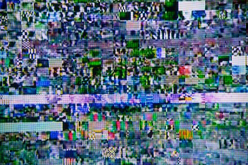 Problems「Satellite signal interference pattern on TV」:スマホ壁紙(12)