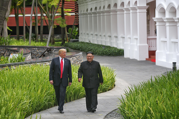 Kim Jong-Un「U.S. President Trump Meets North Korean Leader Kim Jong-un During Landmark Summit In Singapore」:写真・画像(8)[壁紙.com]