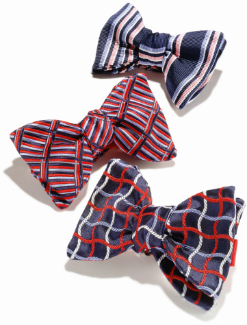 Bow Tie「Plaid mens bowties against white background」:スマホ壁紙(2)