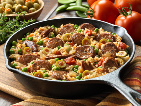 Thyme「Chorizo and Spanish Rice Skillet Dinner」:スマホ壁紙(12)