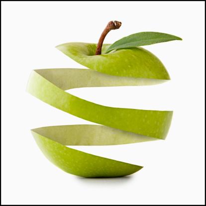 Peeled「Apple peel in apple shape, studio shot」:スマホ壁紙(15)