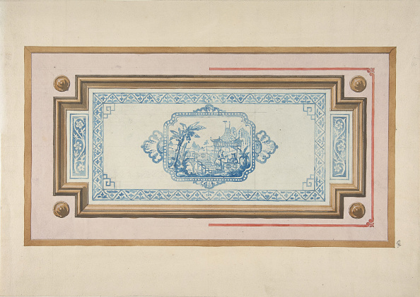 Ceiling「Design For The Decoration Of A Ceiling With A Chinese Blue And White Design」:写真・画像(18)[壁紙.com]