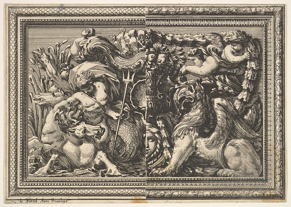 Romaine Lettuce「Design For A Panel With Two Variants Containing A Hippocamp And A Griffin」:写真・画像(13)[壁紙.com]