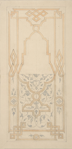 Wood Paneling「Design For A Panel Ornamented With Strapwork And Rinceaux」:写真・画像(12)[壁紙.com]