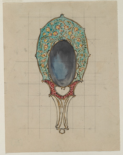 Hand Mirror「Design For A Hand Mirror」:写真・画像(1)[壁紙.com]