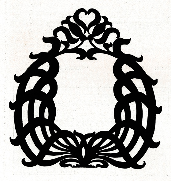 白背景「A design for a picture frame titled Sixpence, 1898.」:写真・画像(9)[壁紙.com]