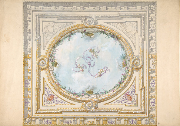 Ceiling「Design For A Ceiling In Rococo Style With A Trompe Loeil Oculus,」:写真・画像(13)[壁紙.com]