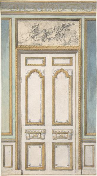 Wood Paneling「Design For Single Door And Overdoor Panel With Cupids Bearing A Violin」:写真・画像(13)[壁紙.com]