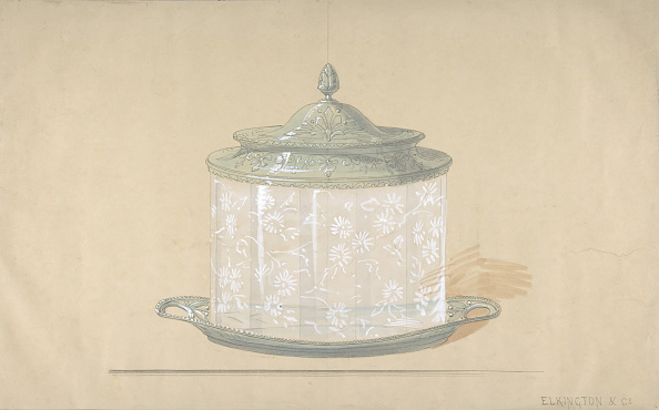 Grove「Design For A Glass Box With A Silver Base And Cover」:写真・画像(4)[壁紙.com]