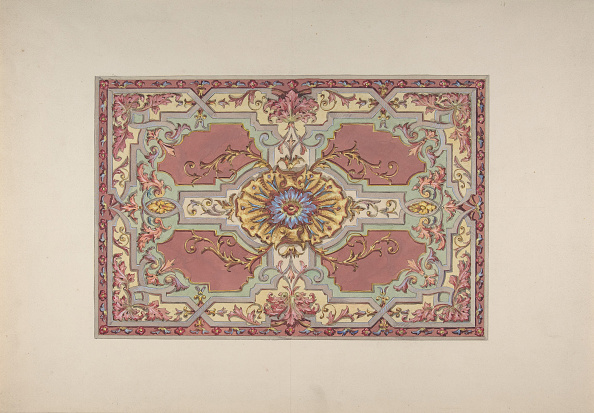 Ceiling「Design For A Painted Ceiling With Strapwork And Foliage On A Rose Background」:写真・画像(17)[壁紙.com]