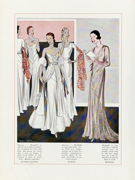 20-29 Years「Design For Evening Dresses By Depouy-Magnin」:写真・画像(8)[壁紙.com]