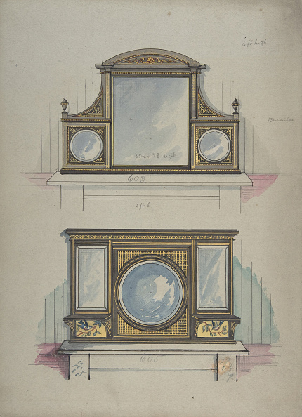 Mantelpiece「Design For Two Mirrors Over Mantels」:写真・画像(6)[壁紙.com]