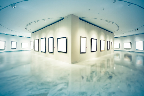 Surrounding Wall「Exhibition frames」:スマホ壁紙(13)