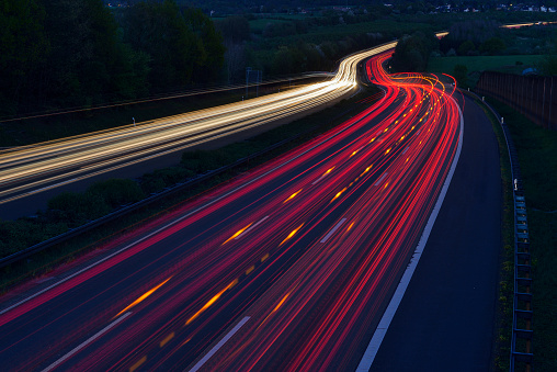 Light Trail「Germany, Taillights on highway」:スマホ壁紙(2)