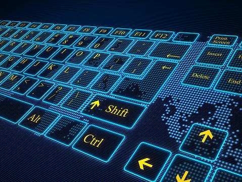 Cyber-「バーチャル cyber キーボード」:スマホ壁紙(3)