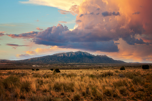Southwest USA「Sandia Mountains at Sunset」:スマホ壁紙(11)