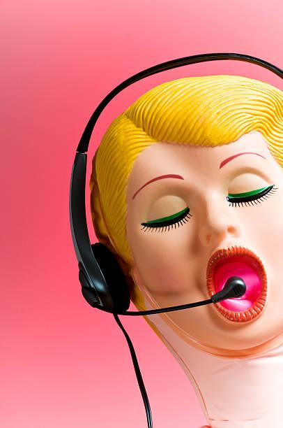 Blow-up Doll Wearing Telephone Headset:スマホ壁紙(壁紙.com)