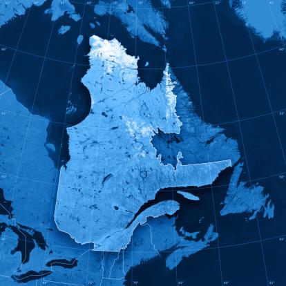 Map「ケベック Topographic マップ」:スマホ壁紙(17)