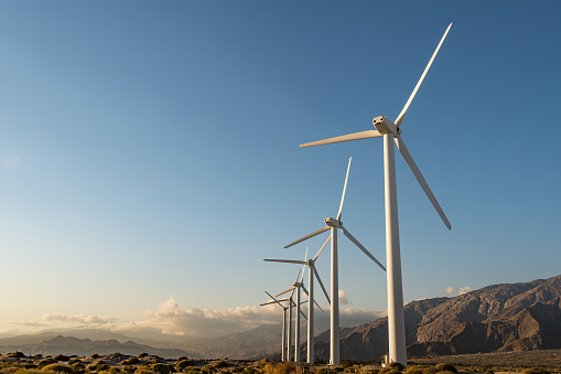 Mill「Palm Springs, California, Renewable Energy Wind Farm」:スマホ壁紙(10)