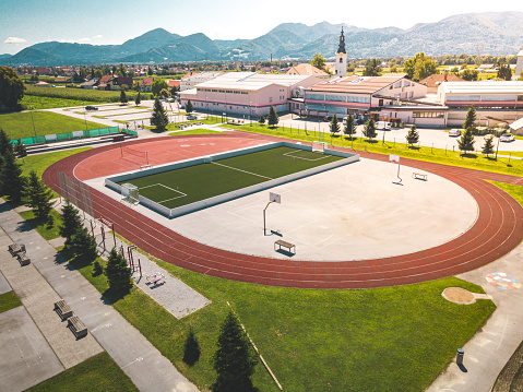 Taking a Shot - Sport「Athletic sports stadium with basketball, football and running tracks」:スマホ壁紙(10)