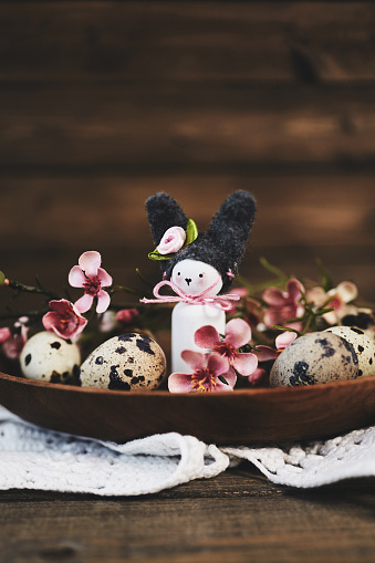 Baby Rabbit「Handmade Easter bunny with blossoms and quail eggs」:スマホ壁紙(9)