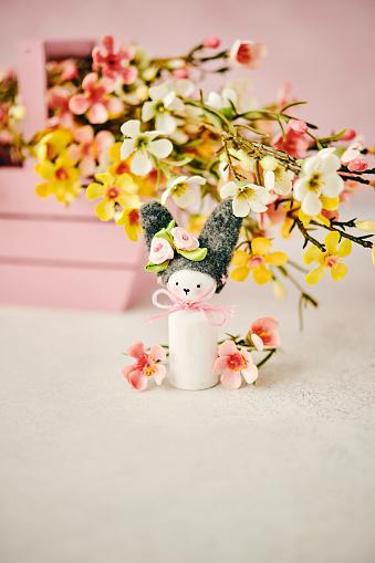Easter Basket「Handmade Easter bunny with blossoms」:スマホ壁紙(7)