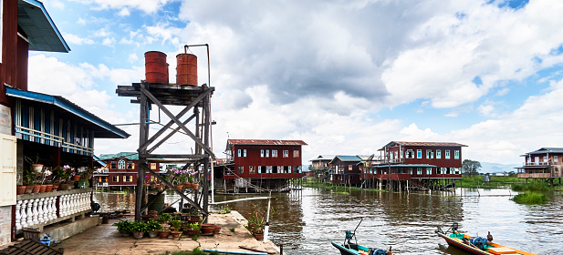cloud「Style life in Seinkaung floating village on the Inle lake」:スマホ壁紙(4)